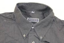 T0162 Eterna Excellent Businesshemd Kurzarm 40 Dunkelgrau Unifarben Neuwertig