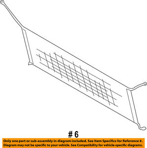 FORD OEM Interior-Rear-Cargo Net BT4Z7455066A