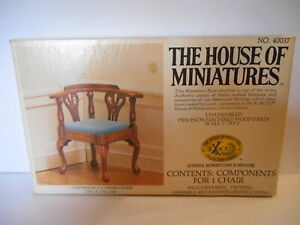HOUSE OF MINIATURES FURNITURE KIT CHIPPENDALE CORNER CHAIR VINTAGE 1980