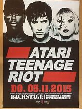 ATARI TEENAGE RIOT 2015 MÜNCHEN -- orig.Concert Poster - Konzert Plakat A1 xx
