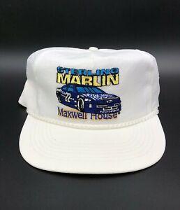 Vintage Sterling Marlin 22 Maxwell House Racing Team Trucker Rope Hat NASCAR Cap