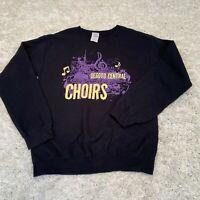 VINTAGE Gildan Womens Sweatshirt Small Black Desoto Choirs Graphic Jumper