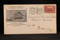 New Hampshire: Dover 1898 #286 Broadway Hotel Advertising Cover