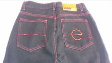 Marc Ecko Red Stitch Black Jeans Juniors SZ 7 Tall Straight Leg 28.5 x 33 Actual