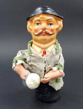 Antique German beer guzzling squeak squeaky composition toy 1920s