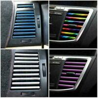 10x/Set Car Accessories AUTO Colorful Air Conditioner Air Outlet Decoratio P1D8
