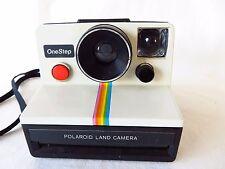 Polaroid One Step SX 70 Camera Rainbow Stripe with Neck Strap #5121