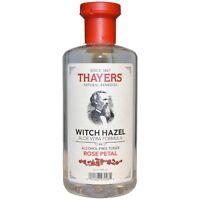 Thayers Rose Petal Witch Hazel Alcohol-Free Toner with Aloe Vera 12 oz (3 pack)