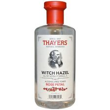 Thayers Rose Petal Witch Hazel Alcohol-Free Toner with Aloe Vera 12 oz (3 pack)