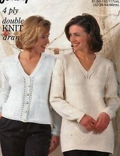 "423 Ladies DK/4ply/aran Cable Cardigan & Tunic 32-46"" Vintage Knitting Pattern"