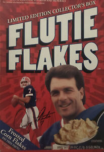 Flutie Flakes Cereal Box From 1999 Limited Edition Collectors (Opened/empty)