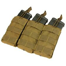 MOLLE Triple 5.56 mm Rifle Mag Pouch Open Top pull tab Coyote Brown CONDOR MA27