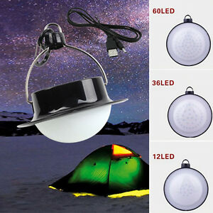Bright Outdoor Light Ultra 60 LED Rechargeable Camping Lantern Tent Fishing Lamp