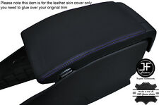 PURPLE STITCHING ARMREST LID LEATHER COVER FITS VOLVO V70 2007-2011
