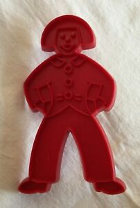 1970's Tupperware Red Cookie Cutter Plastic Holiday Christmas Gingerbread Man