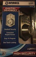Digital Deadbolt Satin Nickel Door Lock Keyless Keypad Entry Code Password New