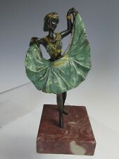 COLD PAINTED BRONZE REVEALING DANCING GIRL