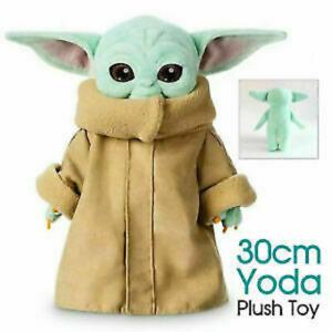 30cm Baby Yoda Plush Toy Master The Mandalorian Force Stuffed Doll Gift For Kids