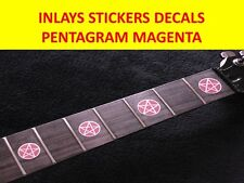 STICKER INLAY PENTAGRAM MAGENTA FRET MARKERS VISIT MY STORE FOR GUITAR