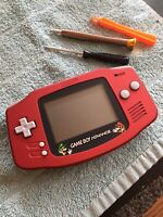 Scarlet Red Mario Glass Lens Gameboy Advance Finding Nemo Cart GBA Refurbished