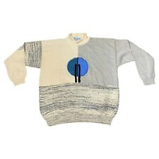 Ixspa 2000 Sweater Size Large Made In Taiwan Color Block Abstract Vintage EUC