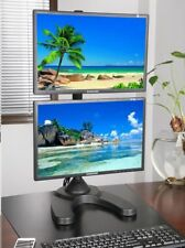 """EZM Vertical Dual LCD Monitor Mount Stand Free Standing up to 27""""(002-0014)"""