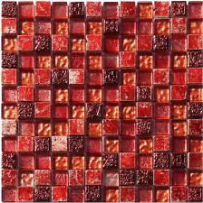 1 Netz Replica Mosaik Rot Glas Stein Mosaik Granit Marmor Fliesen
