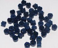 LEGO LOT OF 50 DARK BLUE ROUND 2 X 2 STUD PIECES CIRCULAR BRICKS