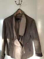 Portmans Suede Brown jacket, Sz M, RRP $325, As New