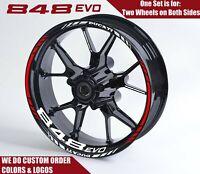 DUCATI 848 Evo Wheel Decals Rim Stickers Set , Supersport Panigale Monster