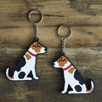 JACK RUSSELL TERRIER Keyring, Novelty Gift, PVC Dog Key Ring, Bag Charm, FREEP&P
