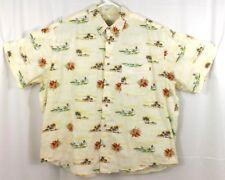 Crossings Mens Hawaiian Shirt Size XXL Button Up Cotton Surf Beach Floral Print