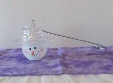 Cute Glass Home Interior Snowman Candle Snuffer