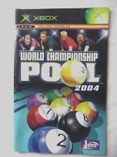 53392 Instruction Booklet - World Championship Pool 2004 - Microsoft Xbox (2004)