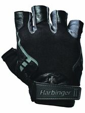 Harbinger Pro Lifting XXL Genuine Leather Weight Lifting Training Gloves Black