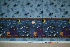 "Cotton fabric 44"" x 4.1 yards, Halloween border print"