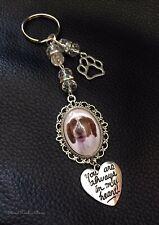 Pet loss Memory key ring - paw print - photo keepsake - gift