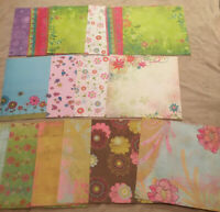 Scrapbook Scrapbooking Paper Lot Spring & Flowers Floral 16 Print Papers
