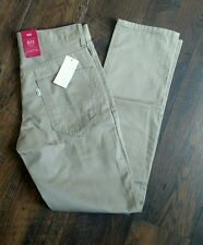 NWT LEVIS 511 36x30 SLIM FIT TAN PANTS MENS STYLE: 131510049 TROUSER  NEW