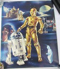 Original 1978 23x19 R2D2 & C3PO Promotional Ken Goldammer Art Poster Vintage