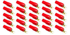 Stinger S4GBSBR Car Stereo Gold 4Ga Power Wire Red Spade Terminals 25 Pack