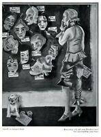 Maske zum Rendezvous Kunstdruck 1932 von Irimingard Straub Blind Date Single