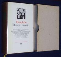 LA PLEIADE Pirandello THEATRE COMPLET tome 1 1987 tbé