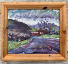 Signed Original landscape Oil Painting on board