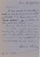 Henri Stein historien archiviste 2 lettres autographes signées Imprimerie