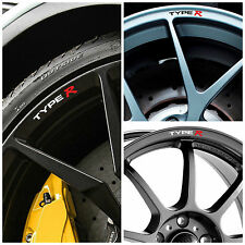 x8 Honda TYPE R Rims Alloy Wheels Curved Decals Stickers Civic Accord Integra