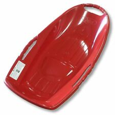 "Snow Runner 36"" Red Plastic Snow Sled with Bottom Grooves"