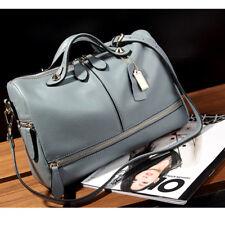 Women Leather Handbag Shoulder Purse Pilliow Shape Satchel Crossbody Tote Bag
