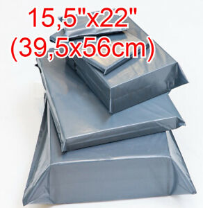 """15,5 x 22"""" Grey Mailing Bags Strong Parcel Postage Plastic Post Poly Self Seal"""