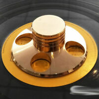 LP Vinyl Turntable Disc Stabilizer Record Weight Gold HiFi Metal Audio Parts
